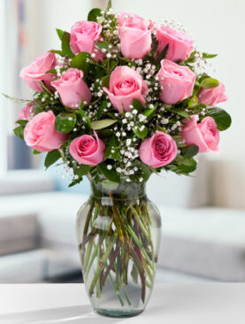 Beautiful Eighteen Pink Roses