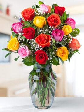 Beautiful Two Dozen Mixed Roses